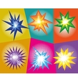 set of abstract explosions in comic pop art vector image