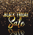 black friday gold confetti background 2309 vector image