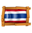 flag of thailand in wooden frame vector image