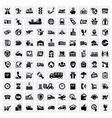 logistic and shipping icons vector image