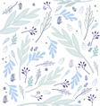 flowers pattern background vector image