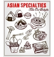 Oriental foods set vector image