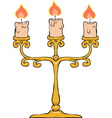 candlestick trident vector image