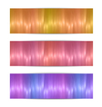 Colorful headers vector image