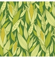 Corn plants seamless pattern background vector image