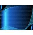 Digital blue binary code background vector image