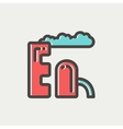 Factory thin line icon vector image