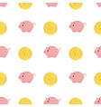 golden coins with dollar sign seamless pattern vector image