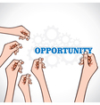 opportunity word in hand vector image
