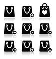 Shopping bag icons set vector image