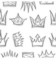 Sketch crown of pattern style vector image