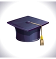 Student cap isolated on white vector image