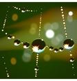 Web drops background vector image vector image