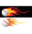 baseball flying through air vector image vector image