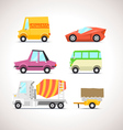 Car Flat Icon Set 5 vector image vector image