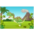 Cartoon Cute tyrannosaurus cartoon vector image vector image