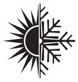 summer winter air conditioning icon24 resize vector image vector image
