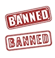 realistic Banned grunge rubber stamp vector image