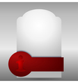 Abstract banner with red element eps10 vector image
