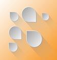 Design speech bubbles on light orange background vector image