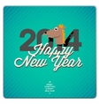 Happy New Year card 2014 vector image