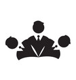 isolated businessmen icon vector image