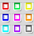reminder sticker note icon sign Set of vector image