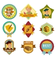 School Colored Badges Set vector image