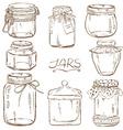 Set of isolated mason jars vector image