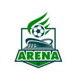 soccer team or football college league icon vector image