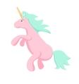 Pink unicorn isolated vector image