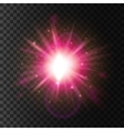 Shining star light Lens flare sparkling effect vector image vector image