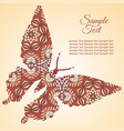 doodle butterfly zentangl drawing holiday card vector image