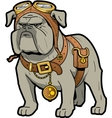Steampunk Bulldog vector image vector image