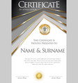 colorful retro design certificate or diploma vector image vector image