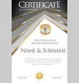 colorful retro design certificate or diploma vector image