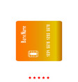 inserting credit card it is icon vector image