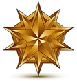 glorious glossy design element luxury 3d golden vector image