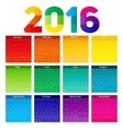 New Year Calendar 2016 vector image
