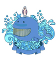 happy sea creatures vector image