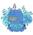 happy sea creatures vector image vector image