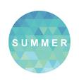 blue summer background vector image