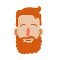 Cartoon man face vector image vector image