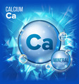 ca calcium mineral blue pill icon vitamin vector image