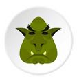 head of troll icon circle vector image