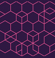 pink and black geometric seamless pattern design vector image