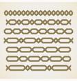Seamless islamic border vector image