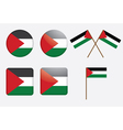 badges with flag of Palestine vector image vector image