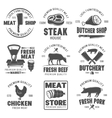Butchery Black White Emblems vector image