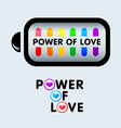 Power of love vector image